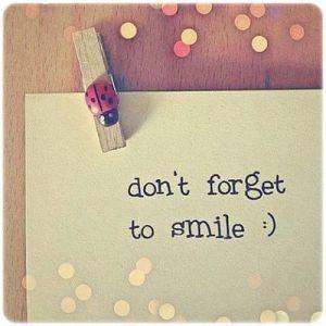 No olvides sonreir :)